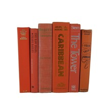 Orange Vintage Book Set, S/6