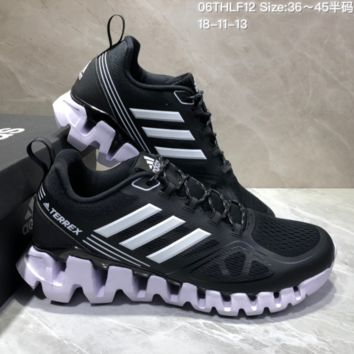 AUGUAU A467 Adidas Terrex High Frequency Breathable TPU Vamp Running Shoes Black White