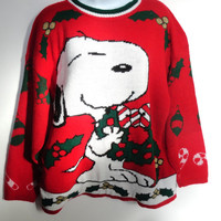 Tacky Christmas Sweater Snoopy 80s