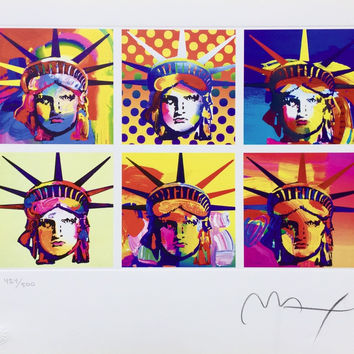 Six Liberties, Limited Edition Lithograph, Peter Max