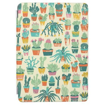 Colorful Cactus Flower Pattern iPad Pro Cover
