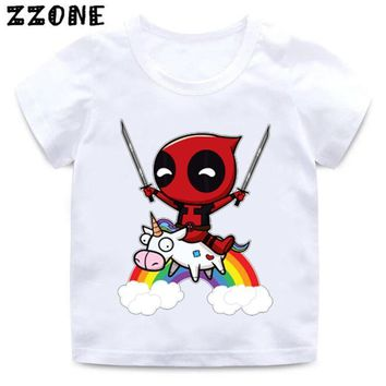 9e3f757e Deadpool Dead pool Taco Cartoon Cute Unicorn Print Funny Baby T