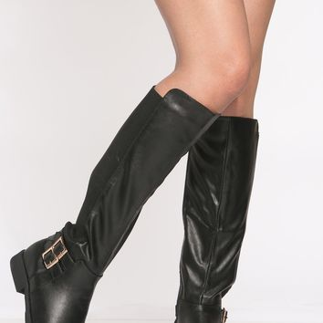 Black Faux Suede Two Toned Knee High boots @ Cicihot Boots Catalog:women's winter boots,leather thigh high boots,black platform knee high boots,over the knee boots,Go Go boots,cowgirl boots,gladiator boots,womens dress boots,skirt boots.