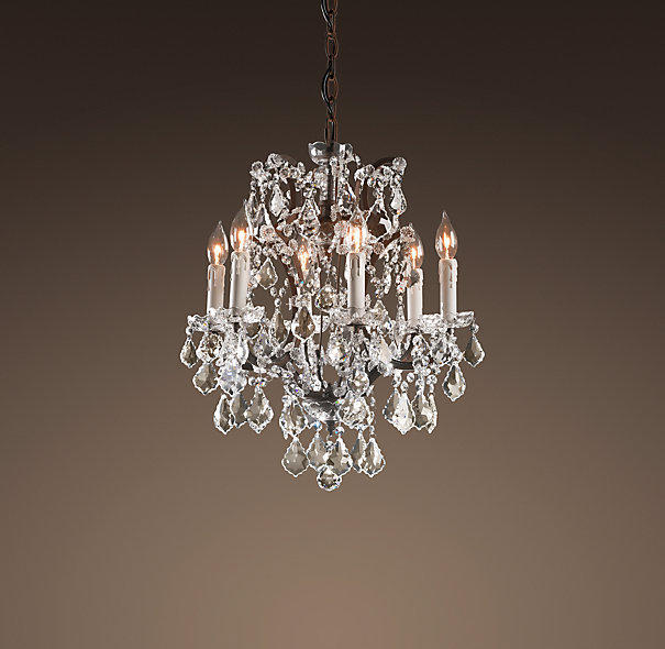 19th c rococo iron crystal chandelier from restoration