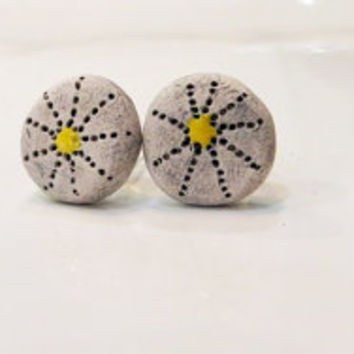 Unique Handmade Ceramic Stud Earrings - for luck ... part 2
