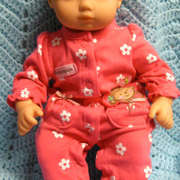 "BITTY BABY GIRL ""Beddie-Bye Monkey"" (15 inch) doll outfit clothes sleeper and headband"