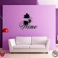 Wall Sticker Vine Wine List Grape Modern Decor for Bar Unique Gift z1363