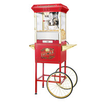 "Red Princeton Antique Popcorn Machine and Cart (Red) (62""H x 21""W x 29""D)"
