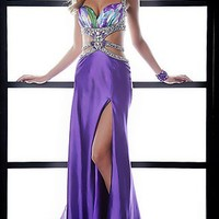 Purple Print Prom Dress by Jasz
