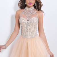 2014 Blush Corset Bodice Homecoming Dress 9851
