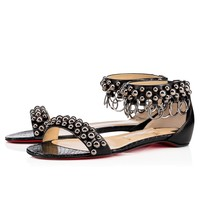 Gypsoflat Flat Version Black Leather - Women Shoes - Christian Louboutin