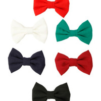 Multicolored Hair Bow 6 Pack