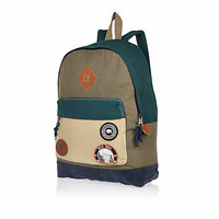 KHAKI BELLFIELD BADGE POCKET BACKPACK