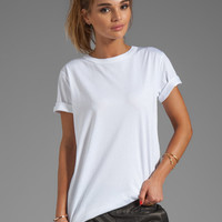 T by Alexander Wang Supima Jersey Crewneck Tee in White from REVOLVEclothing.com