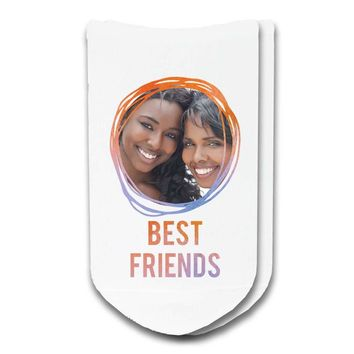 Best Friends - Custom Printed Photo No-Show Socks