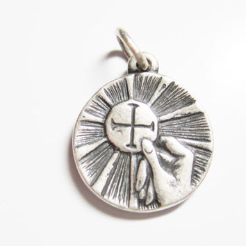 Vintage James Avery First Communion Pendant Charm Sterling Silver