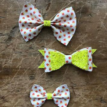Candy Corn Printed Bows