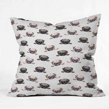 Wonder Forest Pouty Pugs Throw Pillow