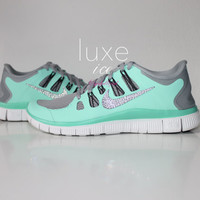 NIKE run free 5.0 running shoes w/Swarovski Crystals detail - ANY color ANY style