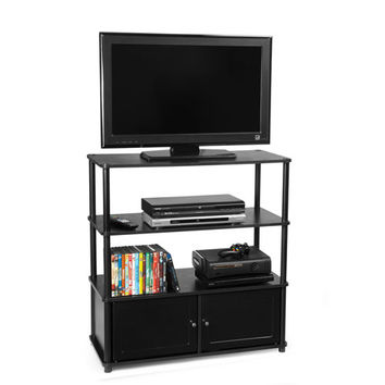 Convenience Concepts 151239 Designs2Go Black Highboy TV Stand