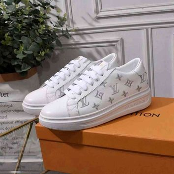 Louis Vuitton LV Women Men Fashion Breathable Sneakers Sport Shoes
