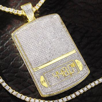 Men's Digital Weighing Scale 448 Gms Iced Out Pendant