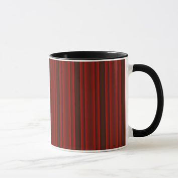 Red and Black Stripes Mug