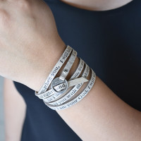 Bible Verse Wrapped Leather Bracelets | Isaiah 41:10