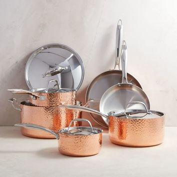 Fleischer And Wolf Seville Copper 10-Piece Tri-Ply Cookware Set