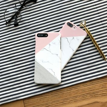 The color matching of marble  iPhone 7 7Plus & iPhone 6 6s Plus Case + Gift Box