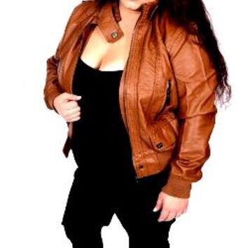 Ladies Vegan Leather Moto Jacket