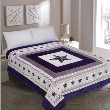 Texas Western Blue Star Blanket