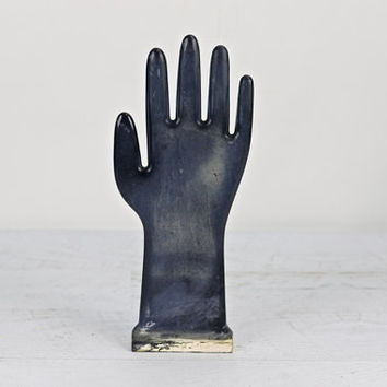 Vintage Glove Mold, Black Glove Mold, Industrial Hand Mold