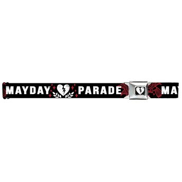 Mayday Parade Men's  Broken Heart Sparrows Seatbelt Buckle Belt