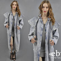 80s Coat 1980s Coat Acid Wash Jacket Acid Wash Coat 80s Acid Wash Long 80s Jacket Acid Wash Denim Jacket Acid Wash Jean Jacket L
