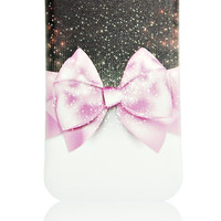 iPhone 5 5S pink bow tie case