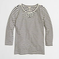 Factory three-quarter-sleeve jeweled necklace tee - Knits & Tees - FactoryWomen's New Arrivals - J.Crew Factory