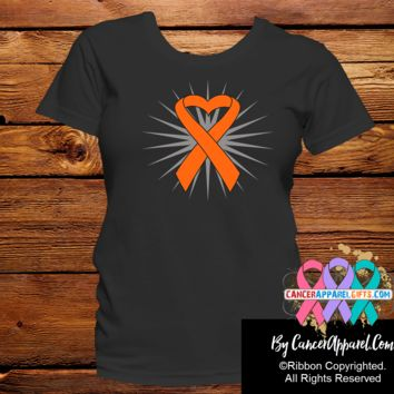 Leukemia Awareness Heart Ribbon Shirts