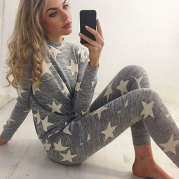 FASHION GREY STARS TWO PIECE SUIT