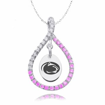 Penn State Nittany Lions Pink CZ Figure 8 Necklace