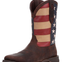 "Men's 11"" Rebel Steel Toe Western Boot - American Flag"