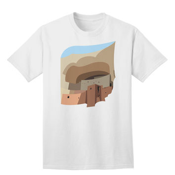 Montezuma Castle Artwork Adult T-Shirt