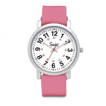 Speidel Scrub Watch for Medical Professionals with Silicone Rubber, Leather or Expansion Band, Easy to Read, Second Hand, Military Time for Nurses, Doctors, Students in Colors that Match Your Scrubs