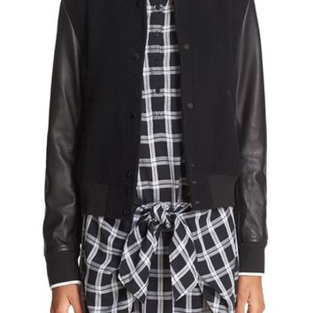 rag & bone/JEAN 'Camden' Wool & Leather Varsity Jacket | Nordstrom