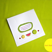 Fruity Hand Made Greeting Cards - Bible Verse -Set of 3- Envelopes included-