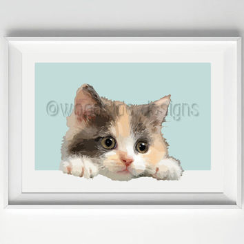 Cat Vector illustration, Cat Print, Digital Print, Printable Poster, Print for Cat Lovers, Housewarming Gift for Cat lovers, Cat Picture