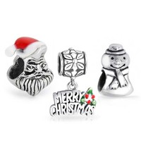Bling Jewelry Merry Happy Bead Set