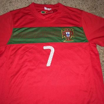 Sale!! PORTUGAL Soccer Jersey #7 Christiano Ronaldo Football Shirt