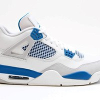 AIR JORDAN 4 (OFF WHITE/MILITARY BLUE)