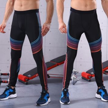 Running Tights Men Women Sports Leggings Fitness Slime Sportswear Line Printed Jogger Athletic Trousers Pants Skinny Compression
